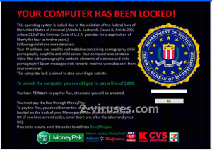 FBI Moneypak Virusas