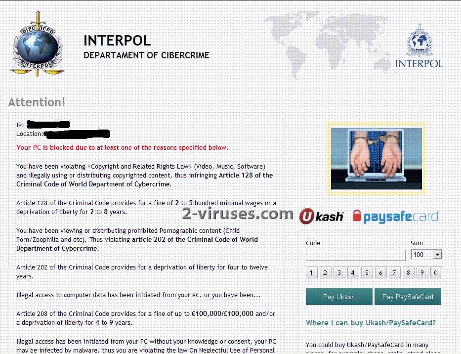 Interpol Department of Cybercrime