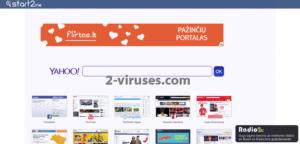 Start2.me virusas
