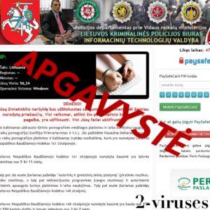 Lietuvoje plinta kompiuterinis virusas, prisidengęs Lietuvos teisėsaugos įstaigų vardu