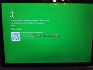Susipažinkite su žaliuoju Microsoft klaidos ekranu