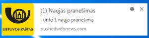 """""""Šimtmečio jubiliejaus"""" Lietuvos pašto melagingas pranešimas"""