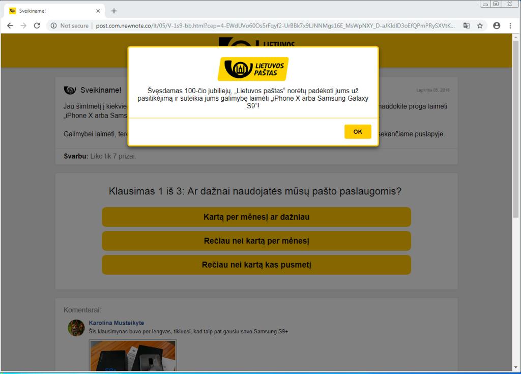 Lietuvos pašto reklama